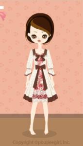 Layered flower dress / wh10B