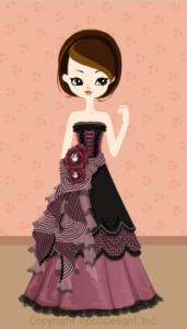 Happy June Bride 2009 - Gothic ribbon dress / 09F
