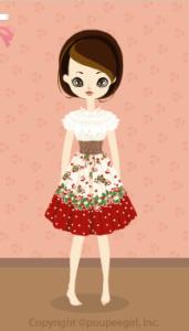 Strawberry corset dress / rd10B