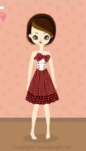 Dot cute dress / rd10B