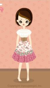 Strawberry corset dress / pk10B