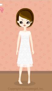 Long lace dress / wh10C