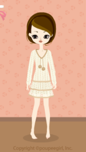 Knit one-piece with pompon / wh09L