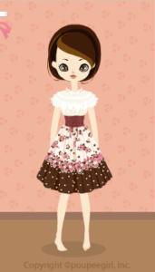 Strawberry corset dress / br10B