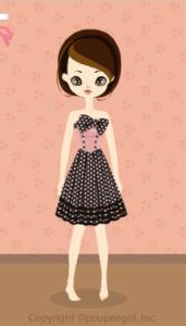 Dot cute dress / bk10B