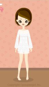 Cotton lace dress / wh10C
