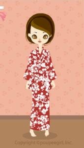 Yukata-Small Flowers / Rd09H