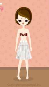 Stripe skirt / wh10C