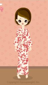 Yukata-Small Flowers / Bg09H