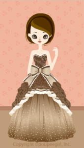 Round ribbon dress / 09F