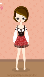 Cow Girl Mini Dress / Rd09IJ