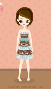 Sweets border dress / bl10BJ