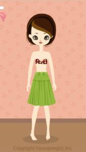 Stripe skirt / gn10C
