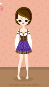 Cow Girl Mini Dress / Pr09IJ