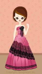 Asymmetry lace dress / 09F