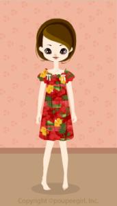 Muumuu dress / Rd09G