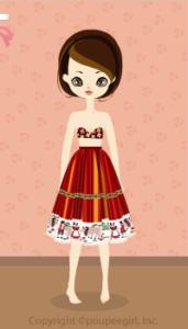Tirolean Skirt / Rd10C