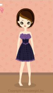 Flower mini dress / nv09K