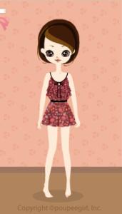 Flower camisole dress / rd10B