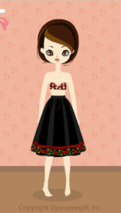 Tyrolean Middle Skirt / Bk10C