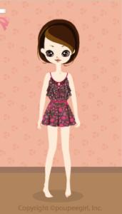 Flower camisole dress / br10B