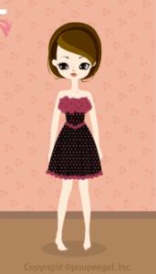 Flower mini dress / bk09K