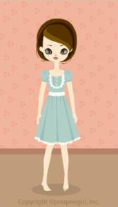 Lovely ribbon dress / gn09G