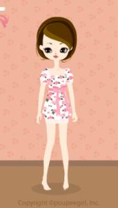 Rose retro dress / pk09KJ