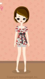 Rose retro dress / gr09KJ