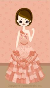 One-shoulder dress / 09F