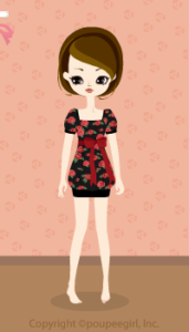 Rose retro dress / rd09KJ