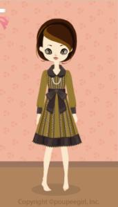 Frill shirt dress / yw09K