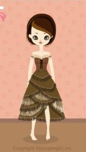 Cow girl dress / kh09I