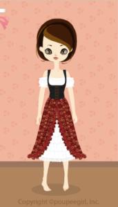 Cow Girl Dress / Rd09I