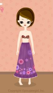 Flower long skirt / pr10C