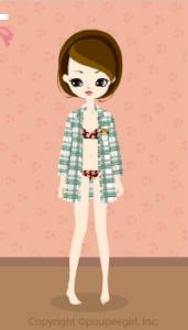 Checkered Long shirt / gn10D