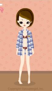 Checkered Long shirt / bl10D