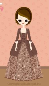 Flower dress / br09IJ