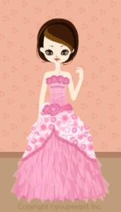 Happy June Bride 2009 - Flower cute dress / 09F