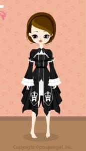 Crown gothic dress / 10AJ
