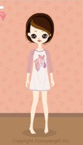 Zebra T-shirt dress / pk10D