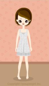 Natural cotton dress / gr09G
