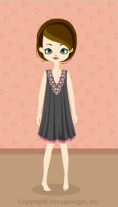 Flower motif dress / gr09H