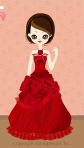 X'mas rose dress / rd09L