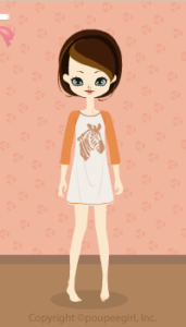 Zebra T-shirt dress / or 10D