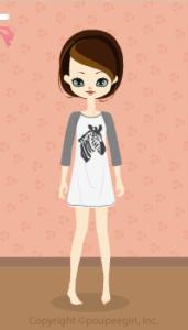Zebra T-shirt dress / bk10D