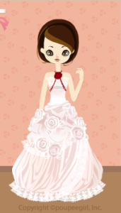 X'mas rose dress / wh09L