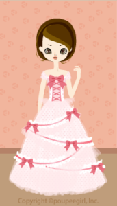 Cute ribbon dress / 09F