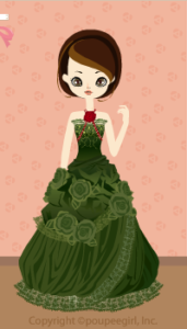 X'mas rose dress / gn09L