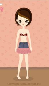 Frilly denim skirt / pk09L